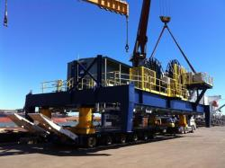 Fabrication discharge direct from vessel to truck Port Hedland Western Australia