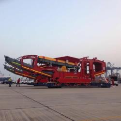 Machinery awaiting loading on to roro vessel Bangkok December 2014